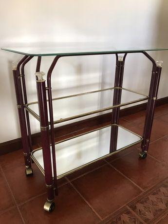Mesa de apoio em vidro