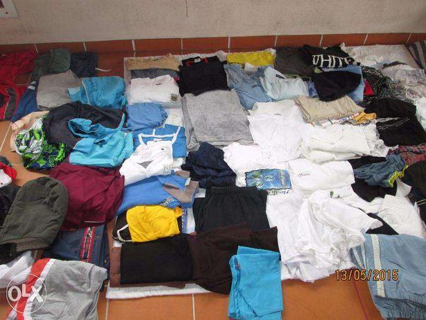 grande lote roupa homem mulher cerca de 350 peças