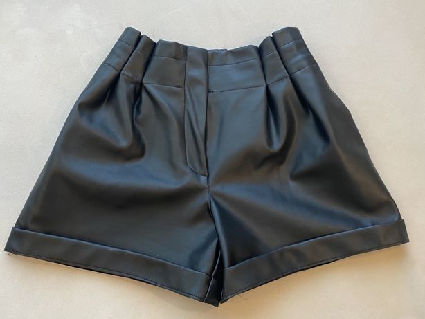 Кожаные шорты, шорты Zara, шорты из эко кожи