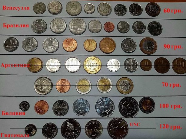 Монеты стран Южной Америки и Африки