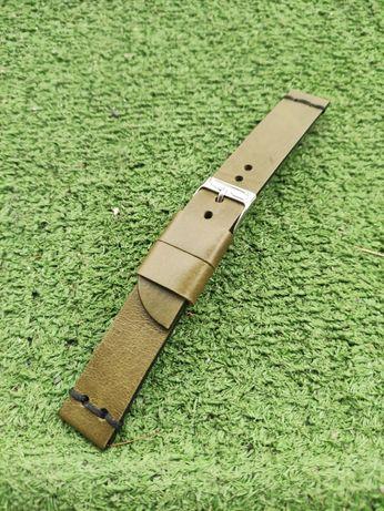 Pasek do zegarka ze skóry bydlęcej, handmade, szer. 18 mm