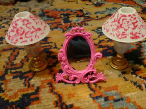 Мебель для кукол Набор Лампы и зеркало Барби Barbie Monster High аксес