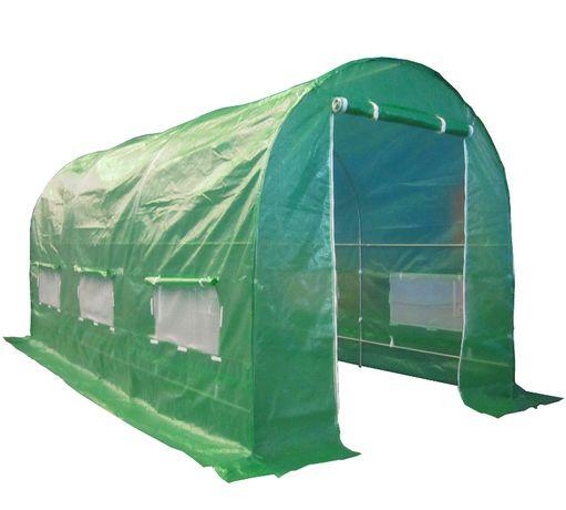 Zielony 2x3,5 7m2 Tunel foliowy na warzywa ogrodowy Szklarnia namiot