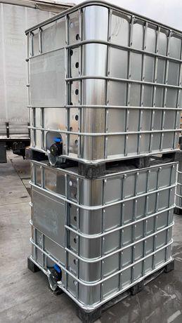 Zbiornik Mauzer 1000 l paleta plastikowa Pojemnik