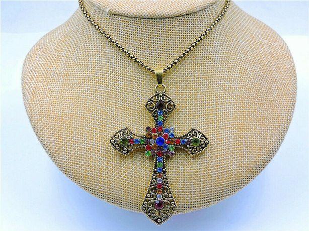 Pingente De Cruz Retrô Crucifixo Amuleto