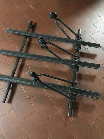 Barras Tejadilho + Suportes para 3 Bicicletas