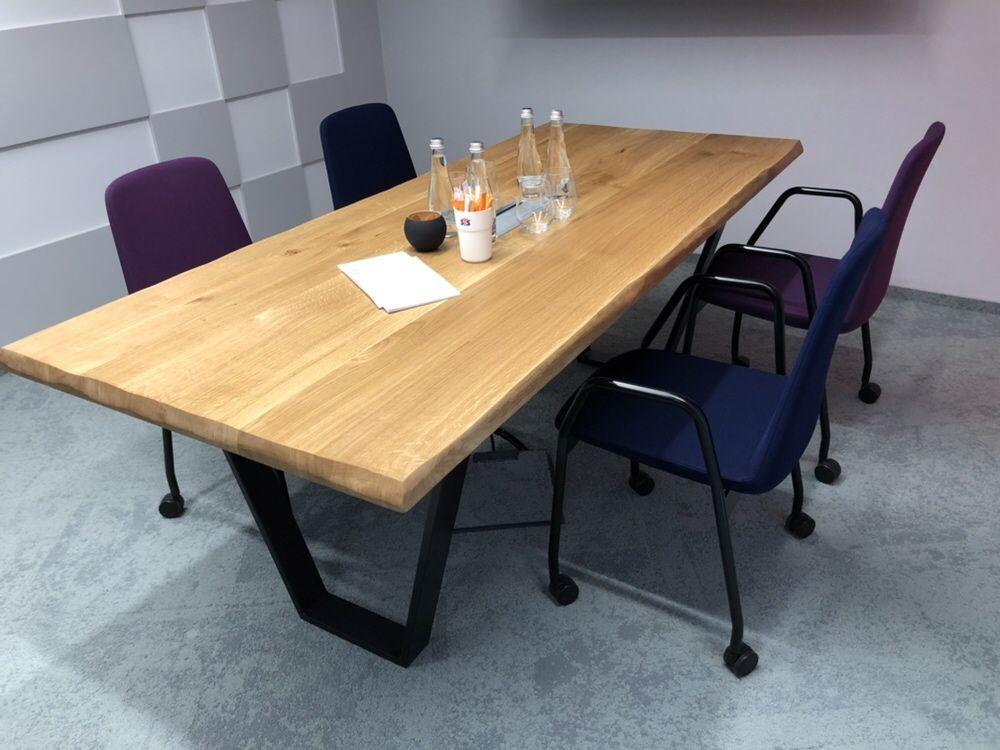 Stół dębowy rozkładany, loft, industrialny, nowoczesny, drewniany