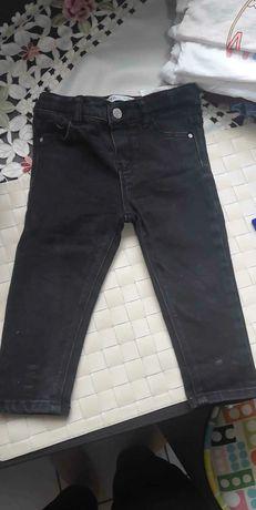 Czarne jeansy Zara 80