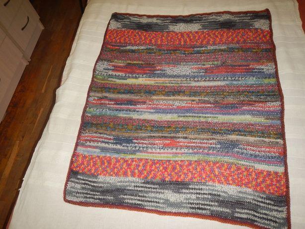 детский плед покрывало одеяло ручной вязки р.84см х 104см