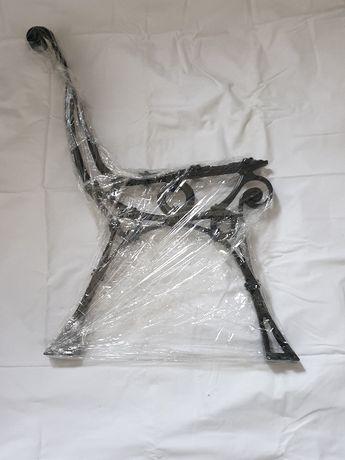 Noga aluminiowa retro -zwykła