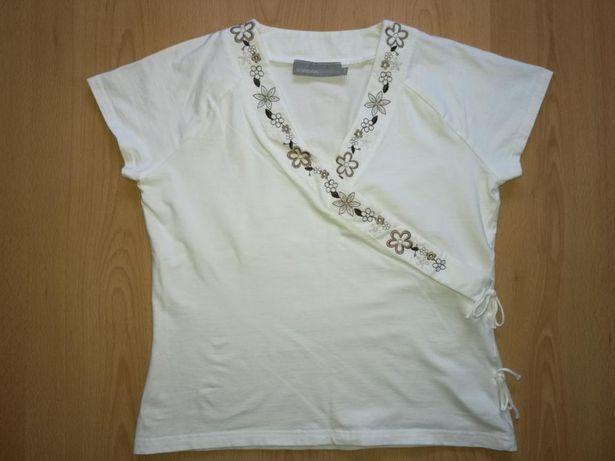 Bluzka KappAhl roz. 38/40 L bluzeczka biała ,wizytowa,elegancka