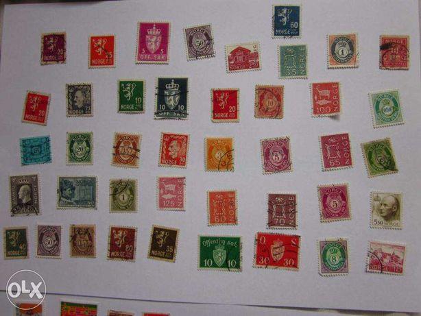 Ponad 160 - znaczki pocztowe NORWEGIA [filatelistyka ]