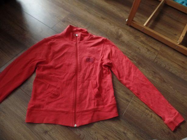 Czerwona bluza rozpinana R. M/L