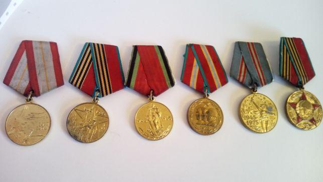 Kolekcja wojskowych medali radzieckich z lat 70.
