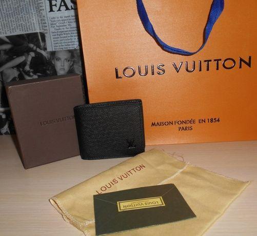 Кошелек, портмоне, бумажник мужской Louis Vuitton, кожа, Франция 012