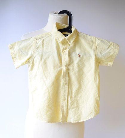 Koszula Żółta Ralph Lauren 3 lata 98 cm RL Żółty Elegancka Lacoste H&M