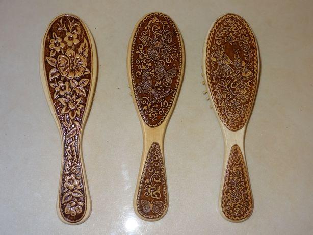 массажная расческа щетка деревянная