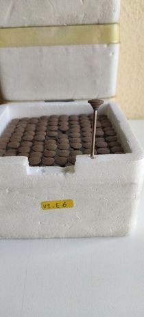 Brocas acabamento abrasivas E6 caixa 100 esqueleticas - 1 caixa