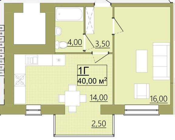 Продається,1-кімнатна квартира, Центр,пору гот.Надії