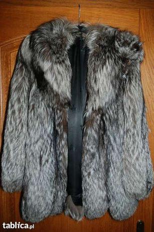 Piękne futro z lisa srebrnego - kurtka, płaszcz