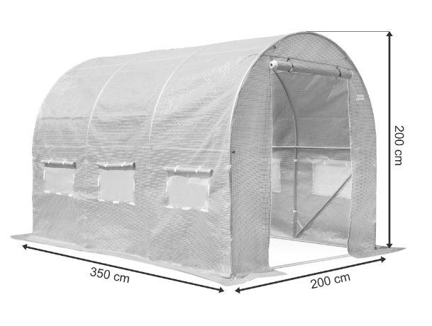 Folia Tunel Foliowy OGRODOWY szklarnia foliak BIAŁY 2x3,5 m