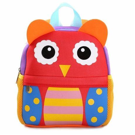 Детский рюкзак для девочки и мальчика. Неопрен. Жираф, Сова, Собачка,
