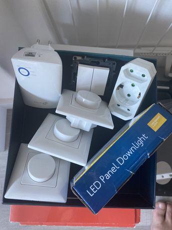 Relugadores de luz, interruptor legrand, distribuidor de net