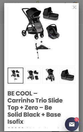 Carrinho Bebe Trio com base isofix