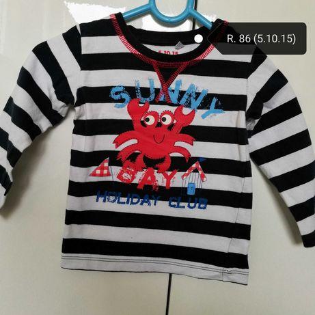 Bluzeczka z długim rękawem dla chłopca w r. 86 (firma 5.10.15)