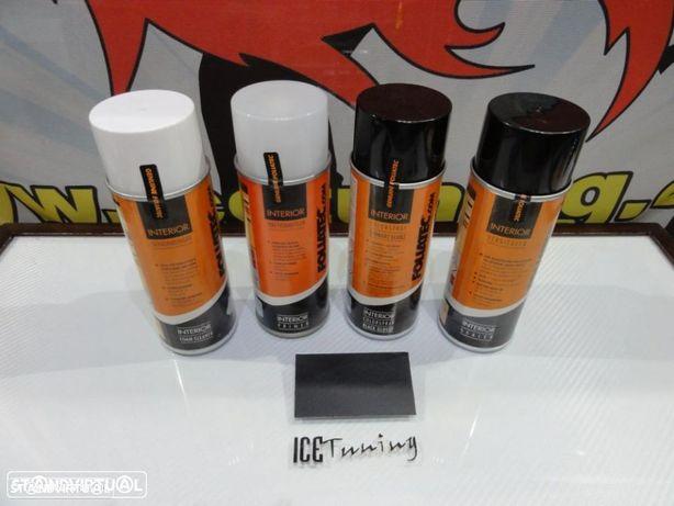 kit reparação pintura de plásticos, volantes, bancos, interiores+limpeza+primário+selante Preto BR
