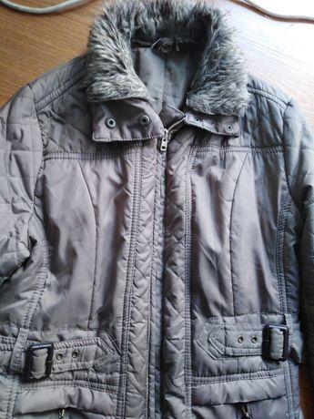 Kurtka zimowa, zima, płaszczyk beż rozmiar L