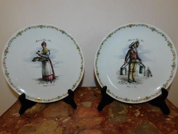 2 porcelanowe talerze RIEBER - Bavaria - EMS Vintage