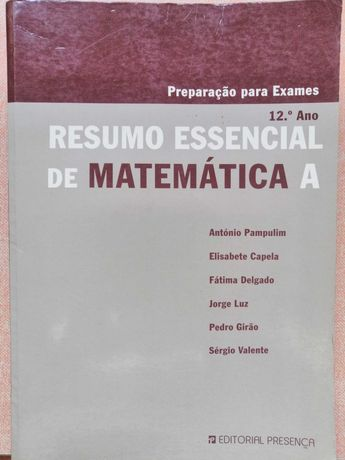Resumos Matemática essencial 12ºano
