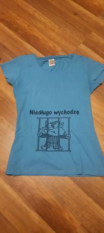 Zabawny podkoszulek ciążowy t-shirt rozm L