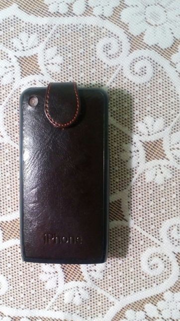 Кожаный флип-чехол на моб.телефон