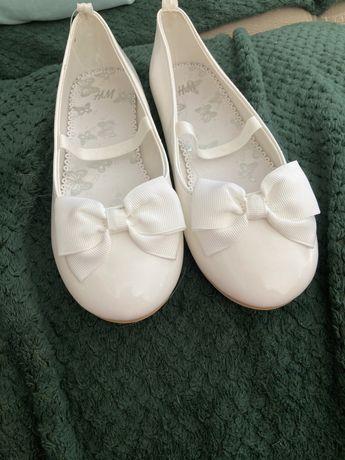 Śliczne biale balerinki  H&M r.32