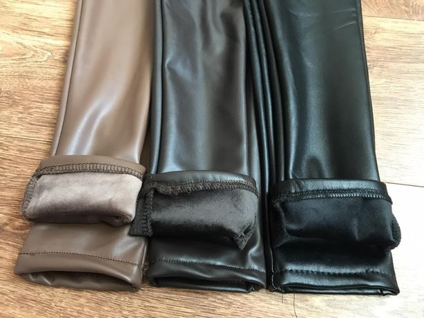 Лосинки из эко кожи для девочек. Размер 134-140 см
