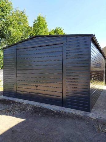 Garaż blaszany 5x6, garaż blaszak ściany 2,7m GRAFIT - PRODUCENT