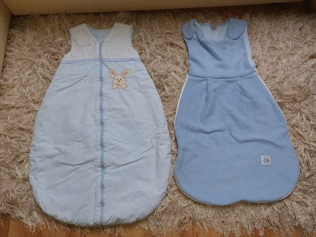Dwa śpiwory niemowlęce Kolor niebieski