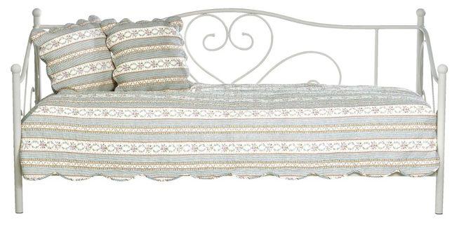 Łóżko metalowe białe jysk+ materac