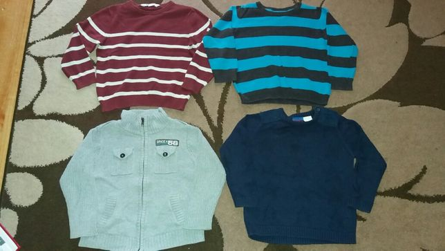 Swetry 4 szt H&M,F&F roz.98/104