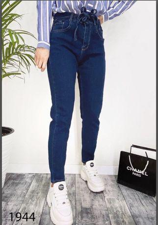 Крутые джинсы, завышенная талия, плотные М-L