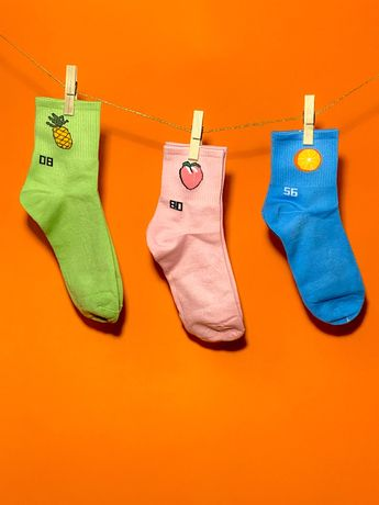Носки с фруктами Женские носки