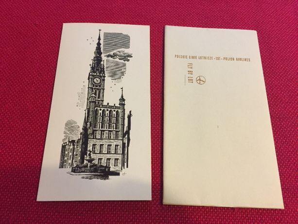 LOT kolekcjonerska kartka z kopertą