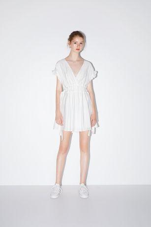 Nowa sukienka ZARA S 36 z kokardami