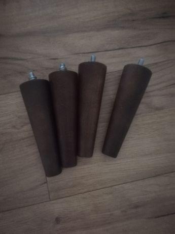 Nóżki do mebli, fotela, drewniane, wenge, nowe