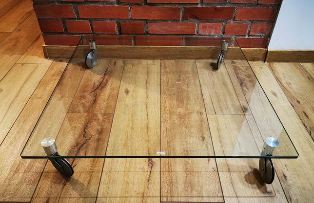 Platforma, stojak na kółkach - szkło hartowane 85x85 x12 mm.