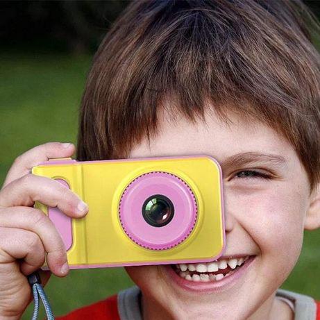 Фотоапарат дитячий з екраном рожевий SMART KIDS CAMERA V7