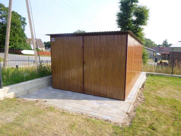 Garaż Blaszany 3x5 Wzmocniony Schowek Kolor PRODUCENT