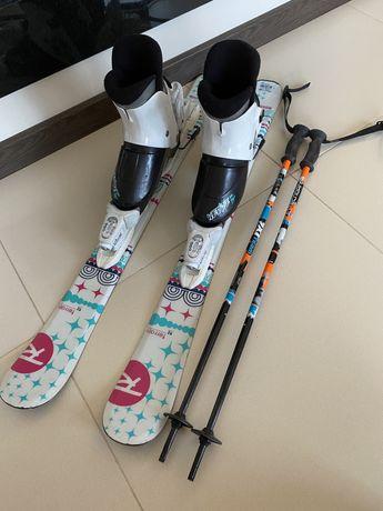 Narty, kijki buty narciarskie